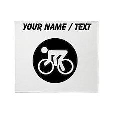 Custom Cycling Throw Blanket