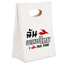 I Chili (Love) Thai Food Canvas Lunch Tote