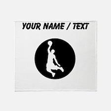 Custom Basketball Dunk Throw Blanket