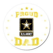 US Army proud Dad Round Car Magnet