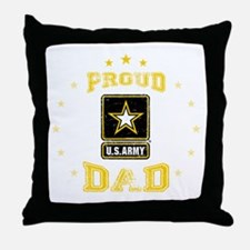 US Army proud Dad Throw Pillow
