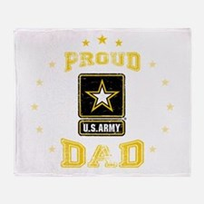 US Army proud Dad Throw Blanket