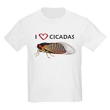 Kid's I Love Cicada Light T-Shirt