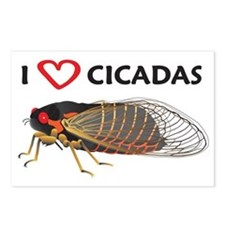 I Love Cicada Postcards (Package of 8)