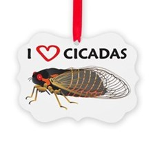 I Love Cicada Ornament