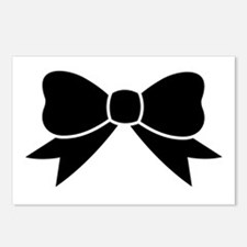 Big Black Ribbon Bow  Postcards (Package of 8)