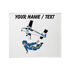 Custom Skydiving Throw Blanket