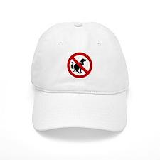 No Dog Poop Sign Baseball Cap