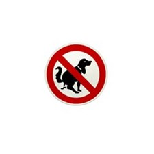 No Dog Poop Sign Mini Button