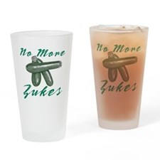No More Zukes Drinking Glass
