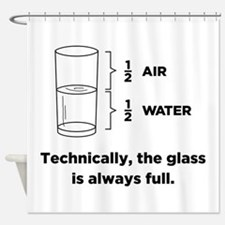 Technically, The Glass Is Always Shower Curtain