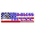 God Bless the U.S.A. Patriotic Bumper Sticker