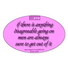 Jane Austen quote Oval Decal