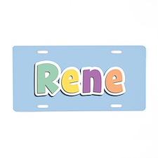 Rene Spring14 Aluminum License Plate