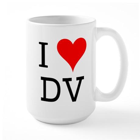 I Love DV Large Mug