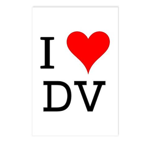 I Love DV Postcards (Package of 8)