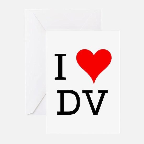 I Love DV Greeting Cards (Pk of 10)