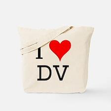 I Love DV Tote Bag