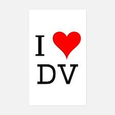 I Love DV Rectangle Decal