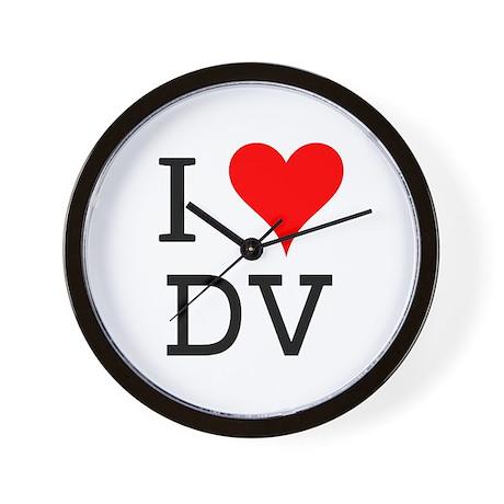 I Love DV Wall Clock