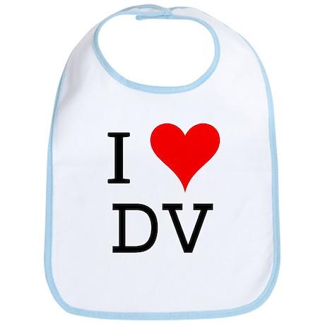 I Love DV Bib