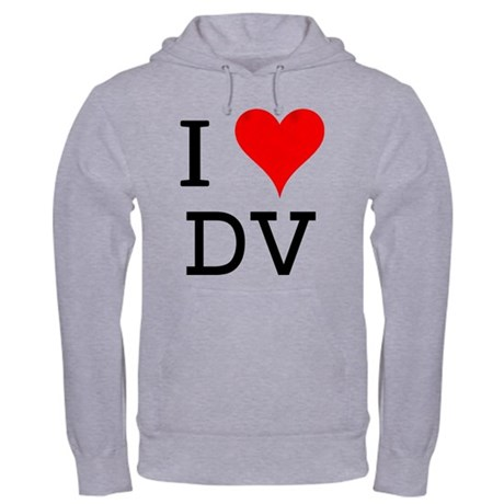 I Love DV Hooded Sweatshirt