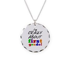 Crazy About First Grade Necklace