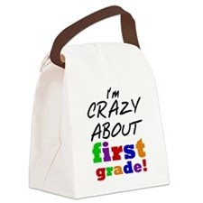 Crazy About First Grade Canvas Lunch Bag