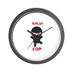 Ninja Cop Wall Clock