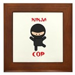 Ninja Cop Framed Tile