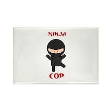 Ninja Cop Rectangle Magnet