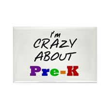 Crazy About Pre-K Rectangle Magnet
