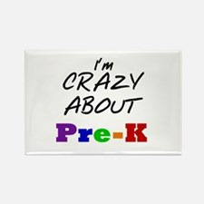 Crazy About Pre-K Rectangle Magnet (10 pack)