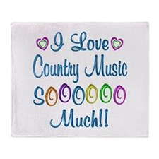 Country Love So Much Throw Blanket