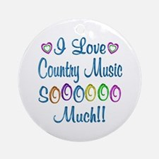 Country Love So Much Ornament (Round)
