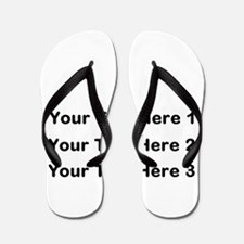Make Personalized Gifts Flip Flops