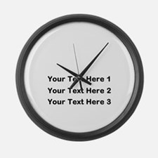 Make Personalized Gifts Large Wall Clock