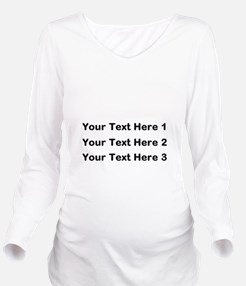 Make Personalized Gifts Long Sleeve Maternity T-Sh