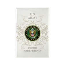 US Army Seal proud girlfriend Rectangle Magnet
