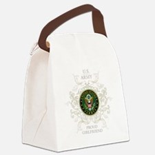 US Army Seal proud girlfriend Canvas Lunch Bag