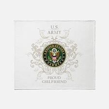 US Army Seal proud girlfriend Throw Blanket