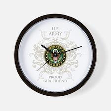 US Army Seal proud girlfriend Wall Clock