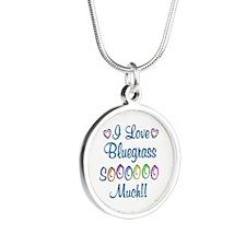 Bluegrass Love So Much Silver Round Necklace