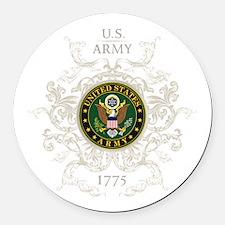 US Army Seal 1775 Vintage Round Car Magnet