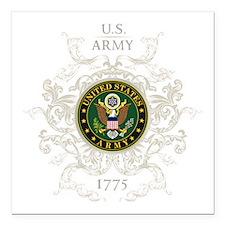 "US Army Seal 1775 Vintag Square Car Magnet 3"" x 3"""