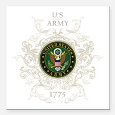 "US Army Seal 1775 Vintag Square Car Magnet 3"" x 3"""