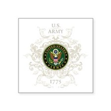 "US Army Seal 1775 Vintage Square Sticker 3"" x 3"""