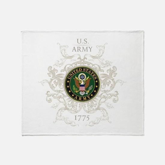 US Army Seal 1775 Vintage Throw Blanket