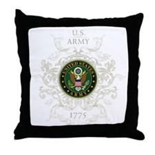 US Army Seal 1775 Vintage Throw Pillow