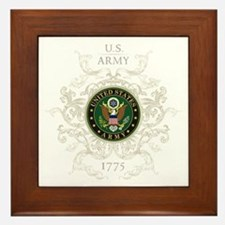 US Army Seal 1775 Vintage Framed Tile